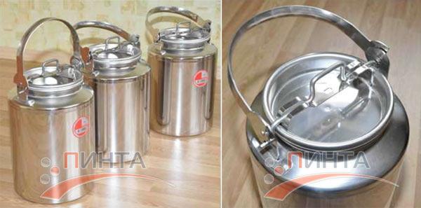 Бидон 10 литров, нержавеющая сталь - замена бидону из алюминия