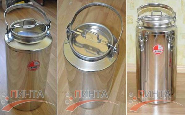Бидон 15 литров, нержавеющая сталь - замена бидону из алюминия