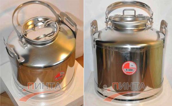 Бидон 20 литров, нержавеющая сталь - замена бидону из алюминия
