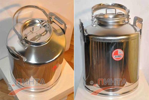 Бидон 25 литров, нержавеющая сталь - замена бидону из алюминия