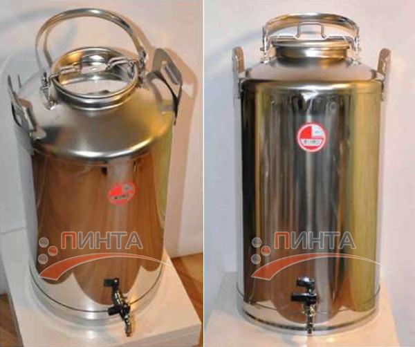 Бидон 40 литров, нержавеющая сталь