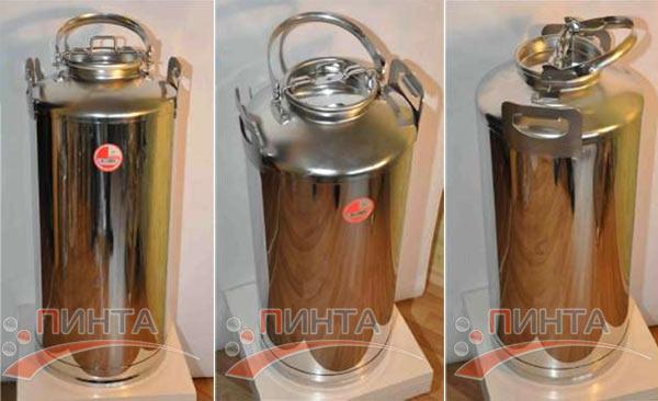 Бидон 50 литров, нержавеющая сталь