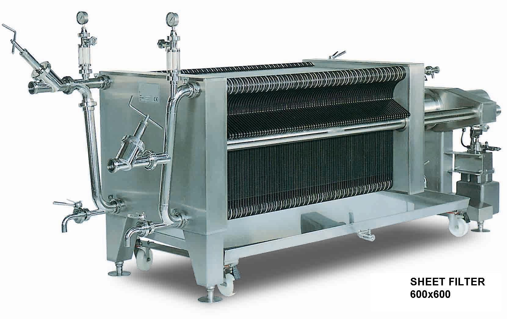 Пластинчатый фильтр 600х600 -- 150 пластин