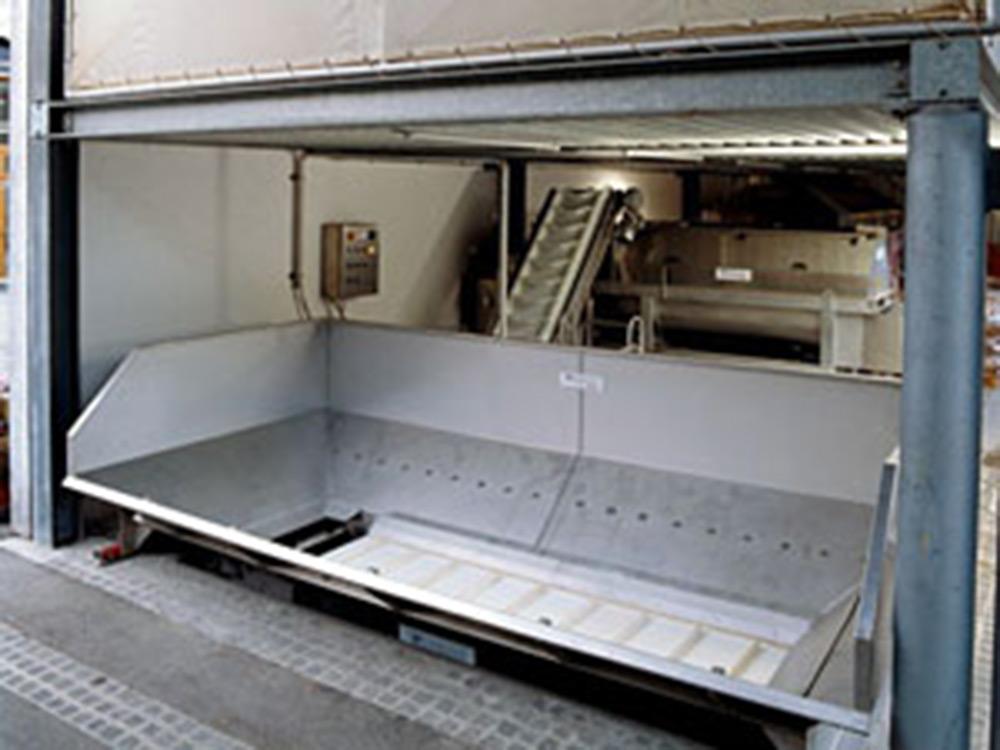 Бункеры с ленточными конвейерами